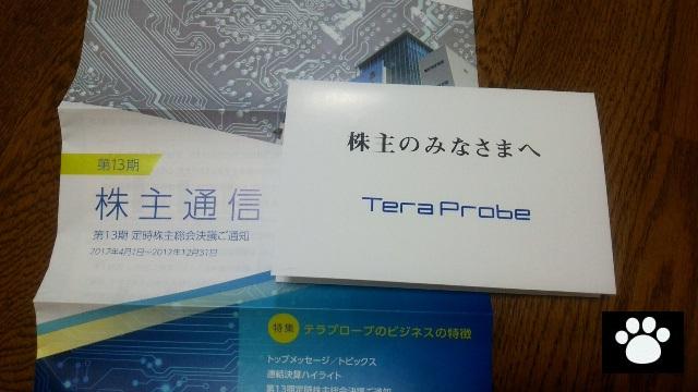 テラプローブ6627株主優待1