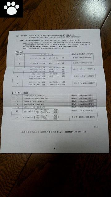 壱番屋7630株主優待6