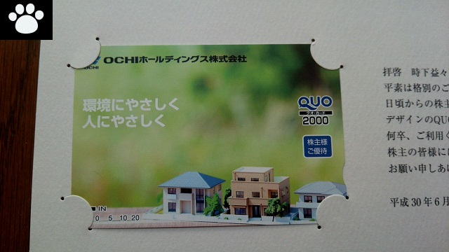 OCHI3166株主優待2