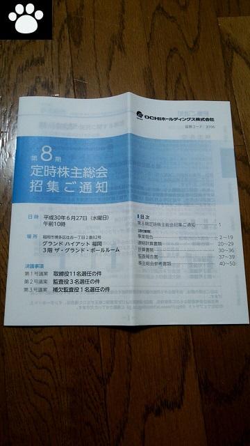 OCHIホールディングス3166株主総会1
