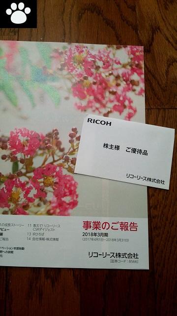 リコーリース8566株主優待1