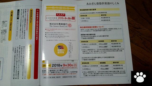 青森銀行8342株主優待3