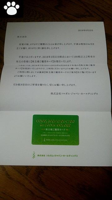 ソルガム6636株主優待2