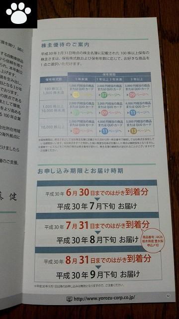 ヨロズ7294株主優待2