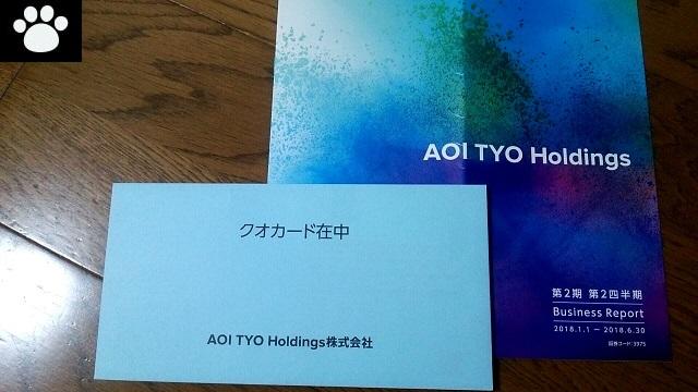 AOI TYO Holdings3975株主優待1