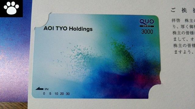 AOI TYO Holdings3975株主優待3