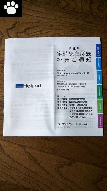 ローランド6789株主総会2019030601
