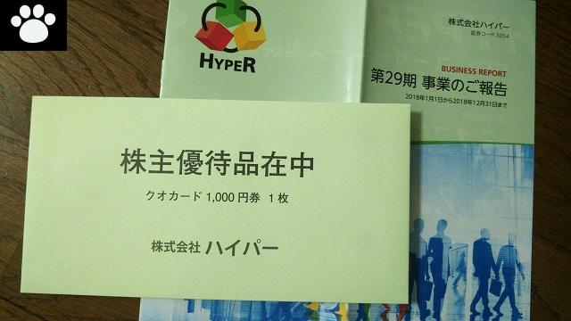 ハイパー3054株主優待2019041601