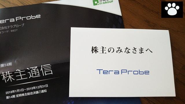テラプローブ6627株主優待2019062201