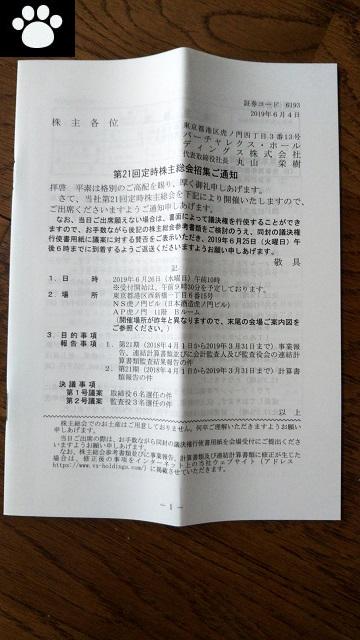 バーチャレクス6193株主総会2019062101