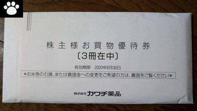 カワチ薬品2664株主優待2019080901