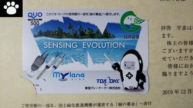 東亜ディーケーケー6848株主優待2020021302