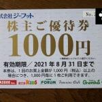 ジーフット2686株主優待2020111102
