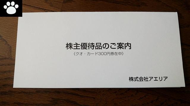 アエリア3758株主優待2021053101